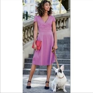 Boden Lilac Surplice Ponte Alicia knit dress